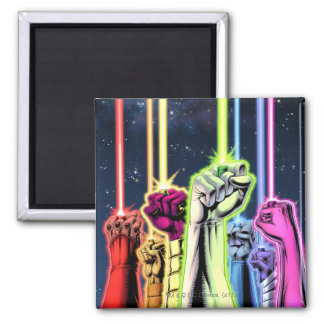 Hands in the air with rings -Color Magnet