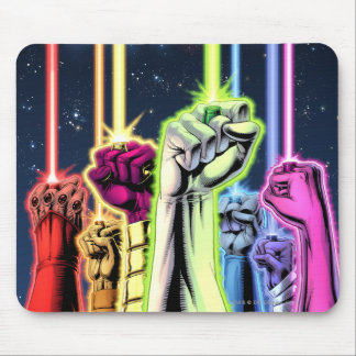 Hands in the air with rings -Color Mouse Pad