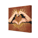 Hands in the Shape of a Heart, Love Design Canvas Print