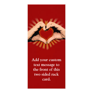 Hands in the Shape of a Heart, Love Design Personalized Rack Card