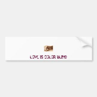 hands, LOVE IS COLOR BLIND Bumper Sticker