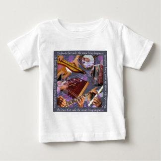 Hands Make Music w gray Baby T-Shirt