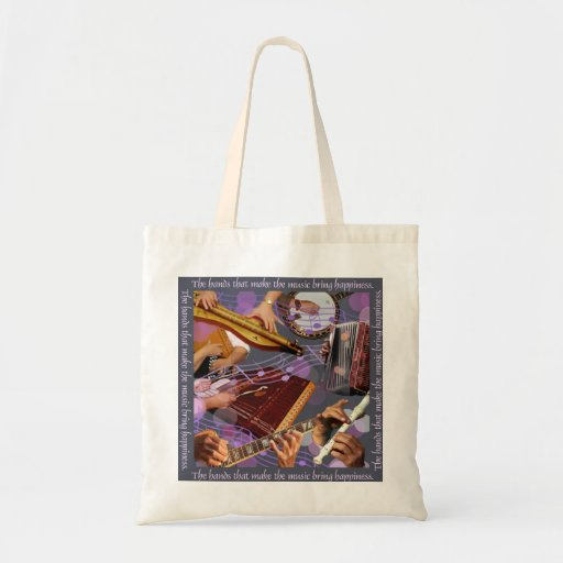 Hands Make the Music Budget Tote Bag