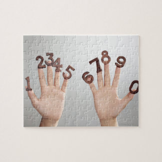 hands&numbers,hands close-up jigsaw puzzle