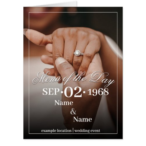 Hands of a colored wedding couple with ring V 2.0 Card