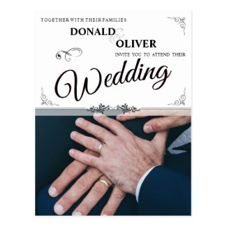 Hands Of A Gay Wedding Couple With Rings V 2.0 Postcard