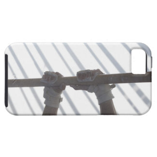 Hands of a male gymnast gripping a horizontal iPhone SE/5/5s case