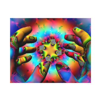 Hands of a wizard gallery wrap canvas