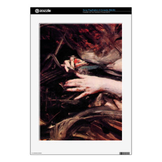 Hands of a woman sewing by Giovanni Boldini Skins For The PS3