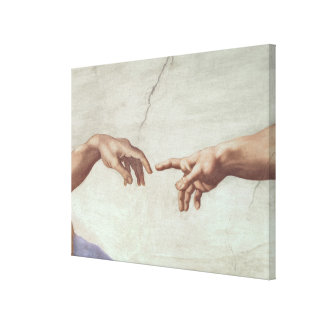 Hands of God and Adam Canvas Print