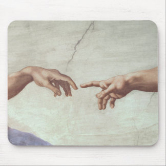 Hands of God and Adam Mouse Pad