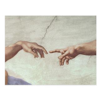 Hands of God and Adam Postcard