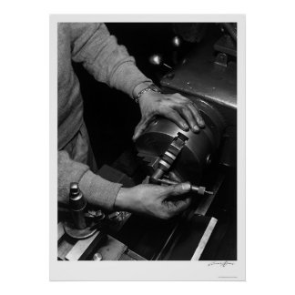 Hands Of Lathe Worker 1943 Poster