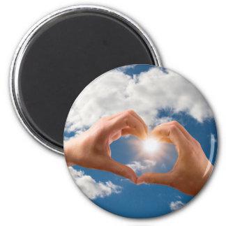 Hands of love magnet