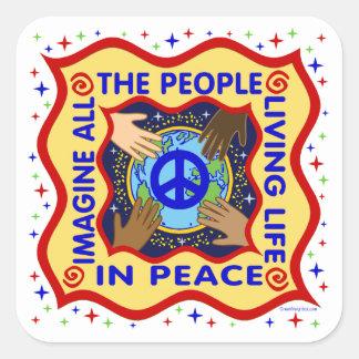 Hands of Peace Sticker