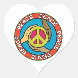 Hands of Peace Heart Sticker