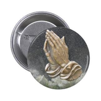 HANDS OF PRAYER PINBACK BUTTON