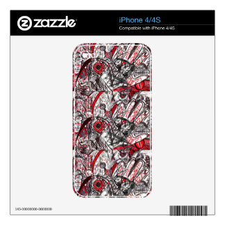 Hands of Rage Pen Drawing iPhone 4S Skins