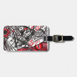 Hands of Rage Pen Drawing Luggage Tag