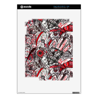 Hands of Rage Pen Drawing Skin For iPad 2