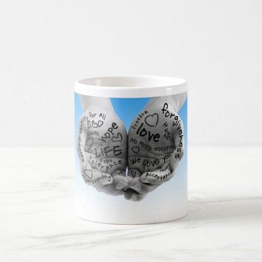 Hands of Support-blue mug