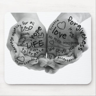 Hands of Support Mouse Pad