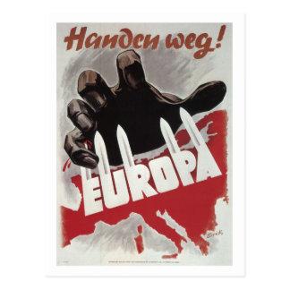 Hands off! (1943)_Propaganda Poster Postcard