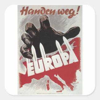 Hands off! (1943)_Propaganda Poster Square Sticker