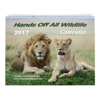 Hands Off All Wildlife Calendar (Two-Page)