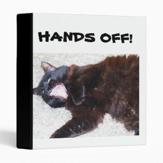 HANDS OFF, BLACK CAT binder