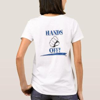 HANDS OFF! Blue - back T-Shirt