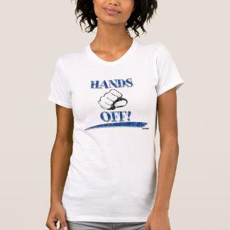 HANDS OFF! blue T-Shirt