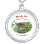 Hands Off Christmas Bug Red Velvet Ant Necklaces