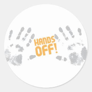 Hands Off! Classic Round Sticker