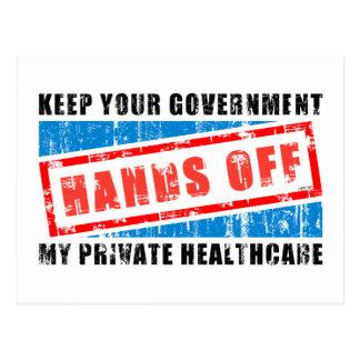 Hands Off Healthcare Postcards