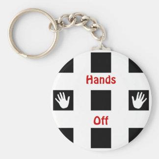 Hands Off Keychain