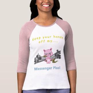 Hands Off...! Ladies 3/4 T-Shirt