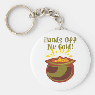 Hands Off Me Gold 2 Keychain
