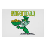 Hands Off Me Gold Poster