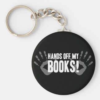 Hands Off My Books Keychain