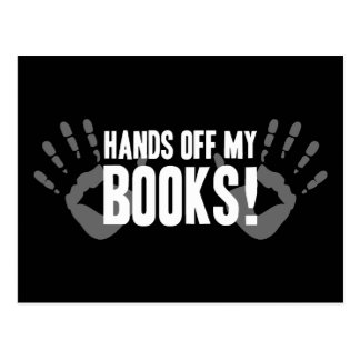 Hands Off My Books Postcard