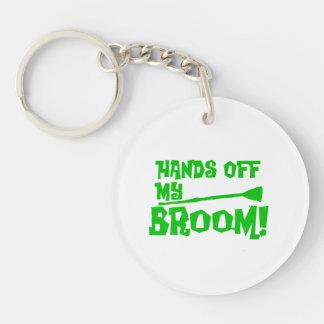 Hands Off My Broom Keychain