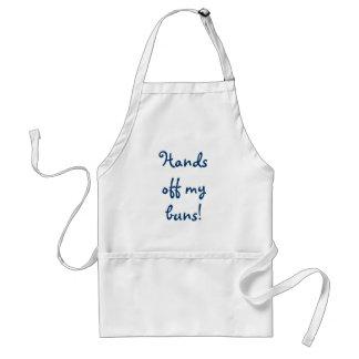 Hands off my buns! adult apron