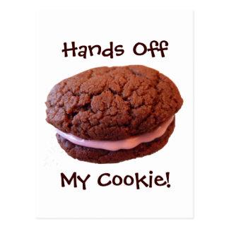 Hands Off My Cookie Postcard