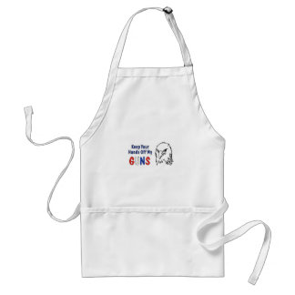 Hands Off My Guns Adult Apron