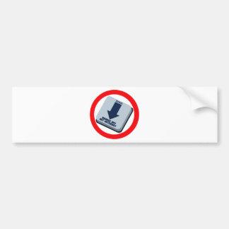 HANDS_OFF_MY_INTERNET BUMPER STICKER