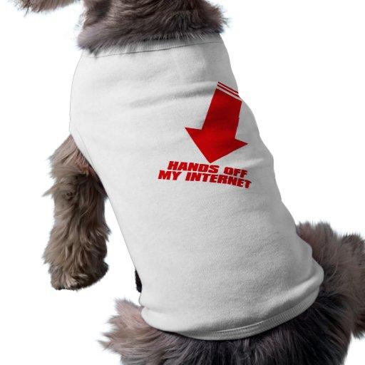 HANDS_OFF_MY_INTERNET DOG T-SHIRT