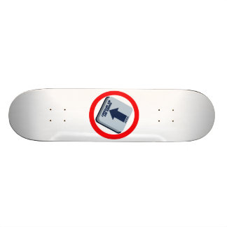 HANDS_OFF_MY_INTERNET SKATEBOARD DECK