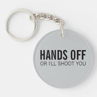 Hands Off My Keys Keychain