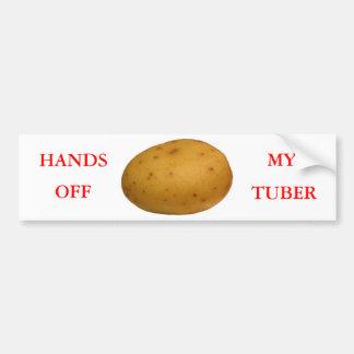 Hands Off My Tuber Bumper Sticker